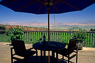 View from the deck of Hahn Estates / Smith & Hook Winery, Salinas Valley, Monterey County, California