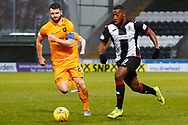 Duckens Nazon of St Mirren heads towards goal during the Ladbrokes Scottish Premiership match between St Mirren and Livingston at the Simple Digital Arena, Paisley, Scotland on 2nd March 2019.