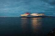 Stena Explorer, seen from South Bull, Dublin