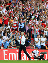 FILE PHOTO: Arsene Wenger is to leave Arsenal at the end of the season, ending a near 22-year reign as manager<br /><br />Arsenal manager Arsene Wenger celebrates after winning the FA Cup final  ... Arsenal v Chelsea - Emirates FA Cup - Final - Wembley Stadium ... 27-05-2017 ... London ... UK ... Photo credit should read: John Walton/EMPICS Sport. Unique Reference No. 31478748 ...
