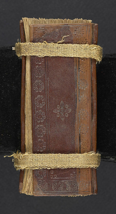 leather binding of a 16th century Armenian Liturgical psalter and perpetual calendar printed in 1500
