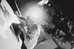 Jernej Kruder during National championship in boulder climbing on November 29, 2015 in Kranj, Slovenia. (Photo By Grega Valancic / Sportida)