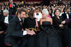 Oscar® nominee Bradley Cooper, Irina Shayk, and Oscar® nominee Lady Gaga during The 91st Oscars® at the Dolby® Theatre in Hollywood, CA on Sunday, February 24, 2019.