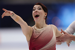 January 20, 2018 - Moscow, Russia - Ekaterina Bobrova of Russia perform during an ice dance free dance event at the 2018 ISU European Figure Skating Championships, at Megasport Arena in Moscow, on January 20, 2018. (Credit Image: © Igor Russak/NurPhoto via ZUMA Press)