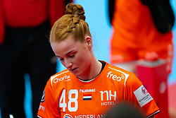 Dione Housheer of Netherlands disappointed after the Women's EHF Euro 2020 match between Netherlands and Serbia at Sydbank Arena on december 05, 2020 in Kolding, Denmark (Photo by RHF Agency/Ronald Hoogendoorn)