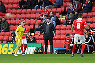 Dougie Freedman, the Nottingham Forest manager looks on from the touchline. Skybet football league championship match, Charlton Athletic v Nottingham Forest at The Valley  in London on Saturday 2nd January 2016.<br /> pic by John Patrick Fletcher, Andrew Orchard sports photography.