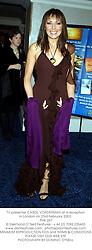 TV presenter CAROL VORDERMAN at a reception in London on 23rd February 2003.<br />PHK 267