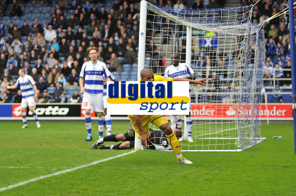 Photo: Tony Oudot/Richard Lane Photography. QPR v Sheffield Wednesday. Coca-Cola Football League One. 03/04/2010. <br /> Tom Sears celebrates his equaliser for Wednesday fifteen minutes from time to earn a point for his side