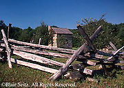 Southwest PA Somerset Historical Center, Early American Rail Fence, Somerset Co.
