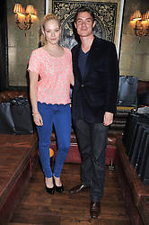 ANNABELLE HORSEY and MAX BROWN at the launch of the Johnnie Walker Blue Label Club held at The Scotch, Mason's Yard, London on 1st May 2012.