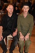 BRIAN CONDON; JAMES BROWN, The Arthur Cox Irish Fashion Showcase 2015,  Irish based designers chosen to be part of this year's Arthur Cox Irish Fashion Showcases The Mall Galleries, London. 13 May 2015.