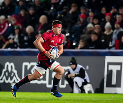CJ Stander of Munster <br /> <br /> Photographer Simon King/Replay Images<br /> <br /> European Rugby Champions Cup Round 1 - Ospreys v Munster - Saturday 16th November 2019 - Liberty Stadium - Swansea<br /> <br /> World Copyright © Replay Images . All rights reserved. info@replayimages.co.uk - http://replayimages.co.uk