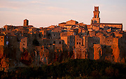 View of Pitigliano Village, on the top of a cliff