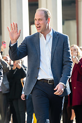 The Duke of Cambridge leaving Pall Mall Barbers in Paddington, west London, where he will meet members of the Lion Barbers Collective, who are raising awareness of suicide prevention through a programme called BarbersTalk. Picture date: Thursday February 14th, 2019. Photo credit should read: Matt Crossick/ EMPICS Entertainment.