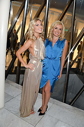 Left to right, MOLLIE KING and KATHERINE JENKINS at the launch of the Odabash Macdonald Resort 2014 swimwear collection at ME Hotel, London on 25th June 2013.