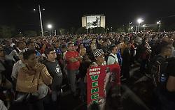 November 29, 2016 - Habana, CUBA - Tuesday, 29 November 2016. Thousands of Cubans  gathered in the iconic Revolution Square in Habana, Cuba  to listen to President Raul Castro address his late brother  Fidel Castro Ruz memorial service. (Credit Image: © Prensa Internacional via ZUMA Wire)