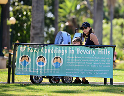 EXCLUSIVE: Eva Longoria enjoys a day at Will Rogers park with her son Santaigo and husband Jose who helps carry the family's Bentley 6 in 1 stroller trike. **SPECIAL INSTRUCTIONS*** Please pixelate children's faces before publication.***. 08 Jun 2020 Pictured: Eva Longoria. Photo credit: MEGA TheMegaAgency.com +1 888 505 6342