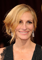 March 02, 2014 - Hollywood, California, U.S. - JULIA ROBERTS, nominated for an Oscar for best actress in a supporting role for her work in 'August:Osage County', arrives wearing a  black lace Givenchy gown to the 86th Academy Awards held at the Dolby Theater..(Credit Image: © Lisa O'Connor/ZUMAPRESS.com)