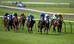 Aurum ridden by jockey William Buick (fourth right) on his way to winning the Alex Scott Maiden Stakes during day one of The Bet365 Craven Meeting at Newmarket Racecourse, Newmarket.