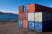 "Shipping containers in Barentsburg, a Russian coal mining town in the Norwegian Archipelego of Svalbard. Once home to about 2000 miners and their families, less than 500 people now live here. This mage can be licensed via Millennium Images. Contact me for more details, or email mail@milim.com For prints, contact me, or click ""add to cart"" to some standard print options."
