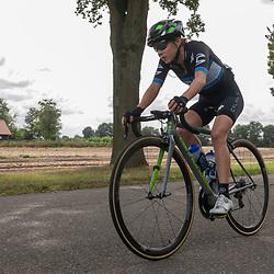 31-08-2018: Wielrennen: Ladies Tour: Weert<br /> Omer Shapiro (Cylance Pro Cycling) gaat al vroeg in de wedstrijp op de vlucht.