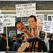Tamil protest against Sri Lanka independence day, London, UK