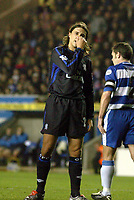 Picture: Henry Browne.<br />Date: 03/12/2003.<br />Chelsea v Reading Carling Cup 4th Round.<br />Hernan Crespo of Chelsea can't believe another missed opportunity