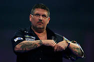 Gary Anderson looks very relaxed as he powers to two sets up during the World Darts Championships 2018 at Alexandra Palace, London, United Kingdom on 29 December 2018.