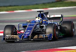 February 27, 2017 - Barcelona, Spain - The Sauber of Marcus Ericsson during the Formula 1 tests held in the Barcelona-Catalunya Circuit, on february 27, 2017. Photo: Jordi Galbany/Urbanandsport/Nurphoto  (Credit Image: © Jordi Galbany/NurPhoto via ZUMA Press)