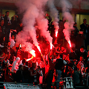 Besiktas's Supporters fans during their Tuttur.com Cup matchday 1 soccer match Besiktas between Vfl Wolfsburg at Mardan stadium in Istanbul Turkey on Thursday February 23, 2012. Photo by Aykut AKICI/TURKPIX