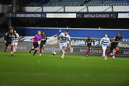 QPR Forward Lyndon Dykes(9) runs forward during the EFL Sky Bet Championship match between Queens Park Rangers and Brentford at the Kiyan Prince Foundation Stadium, London, England on 17 February 2021.