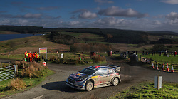 Sebastien Ogier of France and Julien Ingrassia of France in the M-Sport WRT Ford Fiesta WRC on the Brenig Stage during day four of the Dayinsure Wales Rally GB.