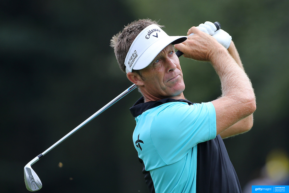 Stuart Appleby, Australia, in action during the third round of theThe Barclays Golf Tournament at The Ridgewood Country Club, Paramus, New Jersey, USA. 23rd August 2014. Photo Tim Clayton