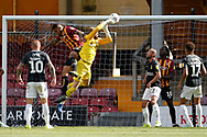 David Cornell of Northampton Town is fouled by Bradford City's Ben Richards-Everton(5) during the EFL Sky Bet League 2 match between Bradford City and Northampton Town at the Utilita Energy Stadium, Bradford, England on 7 September 2019.