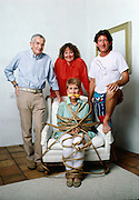 Erma Bombeck at home in Scottsdale, Arizona with her family.  She was author of the book Family: The Ties that Bind and Gag.