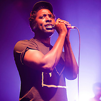 LONDON, UK - 21st June 2012: Bloc Party perform live at Koko Club. Bloc Party are a British indie rock band, composed of Kele Okereke, Russell Lissack, Gordon Moakes, and Matt Tong.