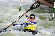 ICF Canoe slalom world cup at the Cardiff white water centre in Cardiff, South Wales on Sat 9th June 2012.  pic by Andrew Orchard, Andrew Orchard sports photography,