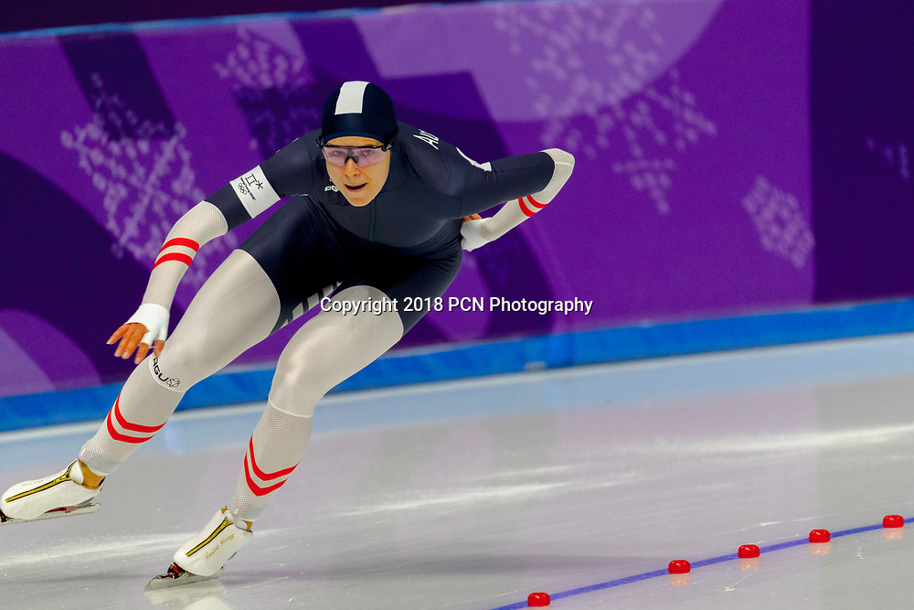 Vanessa Herzog (AUT) competing in the Speed Skating - Ladies' 500m at the Olympic Winter Games PyeongChang 2018