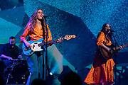 First Aid Kit performs speaks at TED2019: Bigger Than Us. April 15 - 19, 2019, Vancouver, BC, Canada. Photo: Bret Hartman / TED