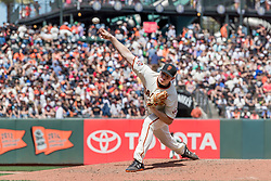 June 3, 2018 - San Francisco, CA, U.S. - SAN FRANCISCO, CA - JUNE 03: San Francisco Giants Pitcher Mark Melancon (41) comes in as a relief pitcher during the MLB game between the Philadelphia Phillies and San Francisco Giants on June 3, 2018, at AT&T Park in San Francisco, CA. (Photo by Bob Kupbens/Icon Sportswire) (Credit Image: © Bob Kupbens/Icon SMI via ZUMA Press)