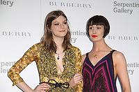 Amber Anderson; Erin O'Connor The Serpentine Gallery Summer Party 2011 with Burberry, Kensington Gardens, London, UK, 28 June 2011:  Contact: Rich@Piqtured.com +44(0)7941 079620 (Picture by Richard Goldschmidt)
