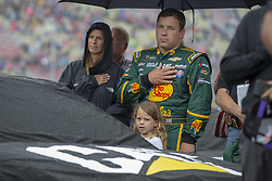 June 10, 2018 - Brooklyn, Michigan, United States of America - Ryan Newman (31) waits for the start of the FireKeepers Casino 400 during a weather delay at Michigan International Speedway in Brooklyn, Michigan. (Credit Image: © Stephen A. Arce/ASP via ZUMA Wire)