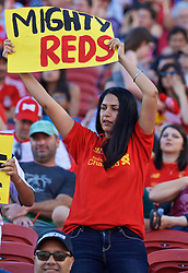 SANTA CLARA, USA - Saturday, July 30, 2016: Liverpool supporters before the International Champions Cup 2016 game against AC Milan on day ten of the club's USA Pre-season Tour at the Levi's Stadium. (Pic by David Rawcliffe/Propaganda)