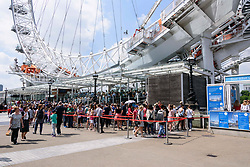 May 25, 2017 - London, London, UK - Visitors queue up to ride on the London Eye as security is stepped up after the Manchester Arena terrorist bombing (Credit Image: © Ray Tang via ZUMA Wire)
