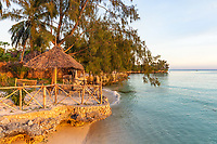 Kizimkazi coastline beach seaside in Unguja aka Zanzibar Island Tanzania East Africa