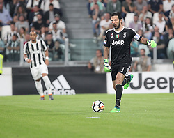April 22, 2018 - Torino, Piemonte, Italy - in the picture: Buffon Juventus.22 April 2018 - Turin, Italy - final match between F.C. Juneventu and SSC Napoli, at the Allianz Stadium in Turin, which is awarded the Scudetto in Serie A in Italy..Napoli wins 1-0. (Credit Image: © Fabio Sasso/Pacific Press via ZUMA Wire)