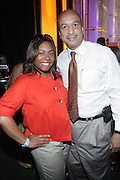 l to r:  Crystal Worthem and Mayor Ray Nagin at The Essence Music Festival Community Outreach Program held at The Ernest Morial Convention Center on July 2, 2009 in New Orleans, Louisiana