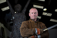 Scottish sculptor Andy Scott, pictured in his studio workshop in Maryhill, Glasgow. Mr Scott will be working on a commission for the Scottish Steelmens' Trust on a sculpture to commemorate those who lost their lives working in the steelmaking industry in Scotland. The sculpture will be installed at Ravenscraig, Lanarkshire, in spring 2015 on the site of what was once Europe's biggest hot strip mill, which closed in 1992.