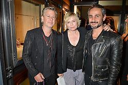 Left to right, JASON & FLORA STARKEY and ARA VARTANIAN at a party to celebrate the opening of the jeweller Ara Vartanian's Flagship Store 44 Bruton Place, London on 7th September 2016.