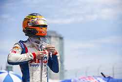 July 13, 2018 - Toronto, Ontario, Canada - MATHEUS LEIST (4) of Brazil hangs out on pit road prior to practice for the Honda Indy Toronto at Streets of Toronto in Toronto, Ontario. (Credit Image: © Justin R. Noe Asp Inc/ASP via ZUMA Wire)